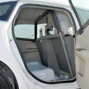 Chevy Impala (2006+) Vehicle Partition (Half-Slider Polycarbonate Window Option)